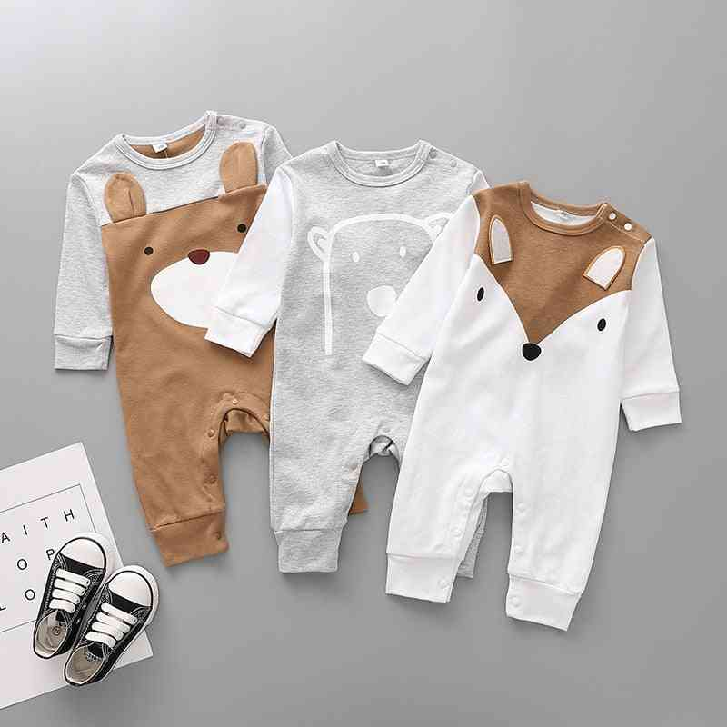 Cotton Cartoon Bear Siamese Romper Newborn Clothes - Baby Girl Crawler Jumpsuit