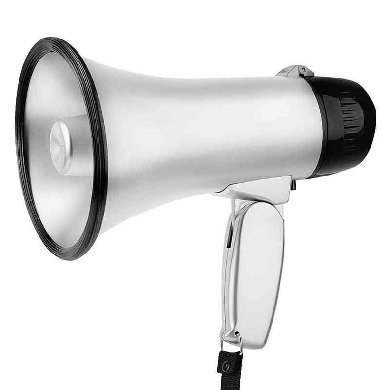 Portable Megaphone-bullhorn With Foldable Handle For Cheerleading Guide And Police