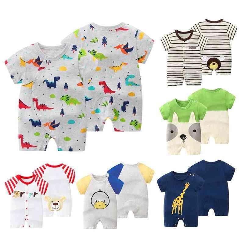Baby Boy Bodysuits, Pp Cartoon Short Overalls Jumpsuit