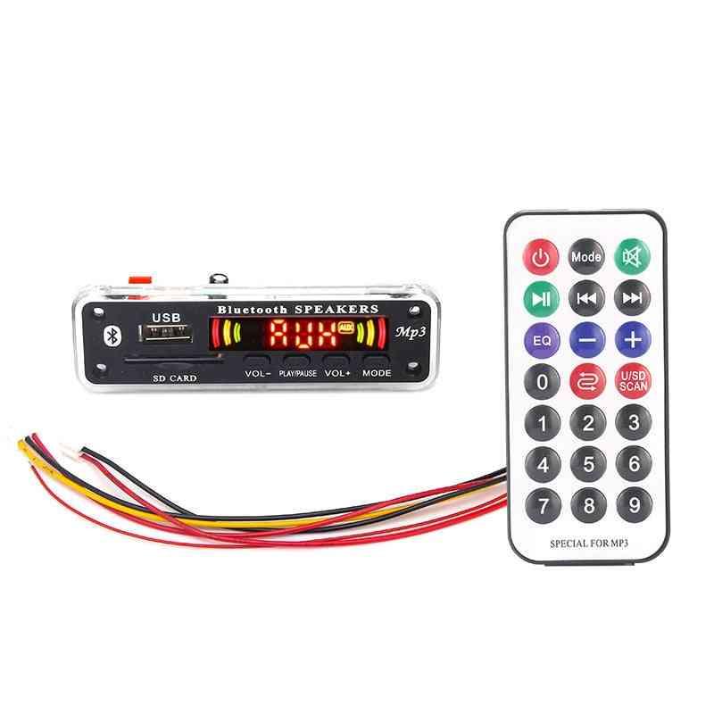 5v-12v Bluetooth Mp3 Module With Remote Control