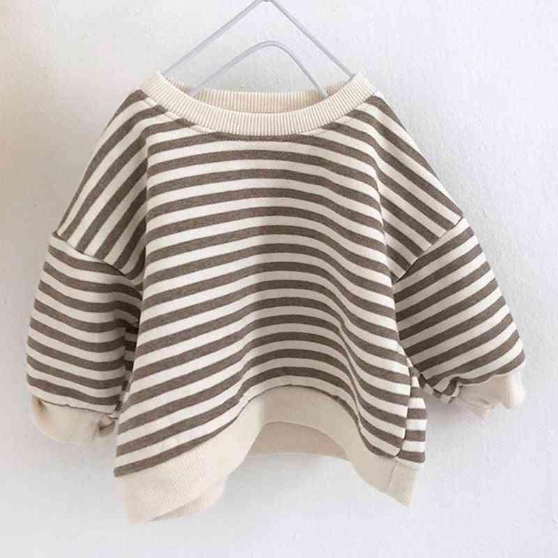 Spring/autumn, Striped  Sweatshirt