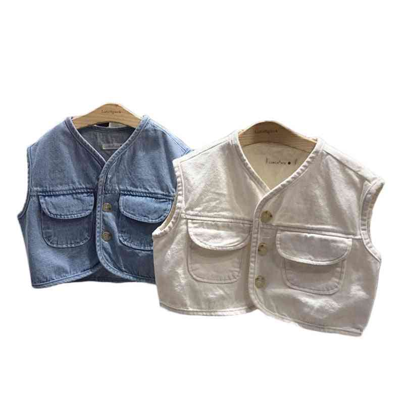 Kids Vest Waistcoats Outerwear For