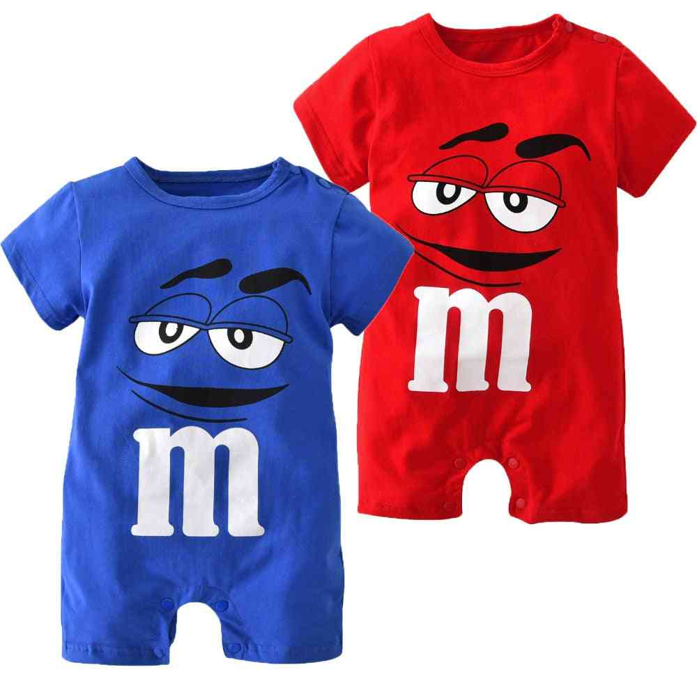 Newborn Baby Clothing Cartoon Printing, Short Sleeved, Jumpsuit For Girl Clothes