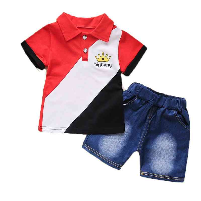 Baby Summer Clothes Suit, Gentleman Style, Shirt +pants