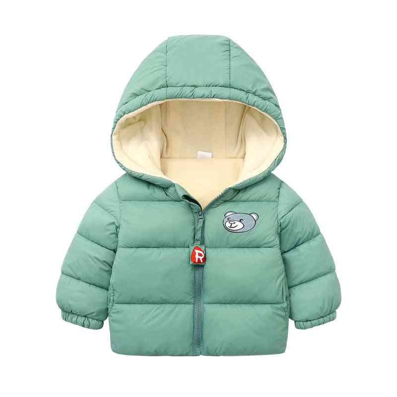 Hooded Thickened Down Jacket For Babies