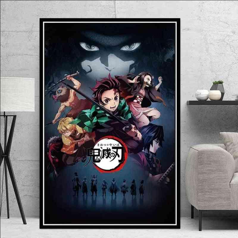 Kimetsu No Yaiba Kamado Tanjirou Kamado Nezuko Canvas Posters Wall Hanging Pictures