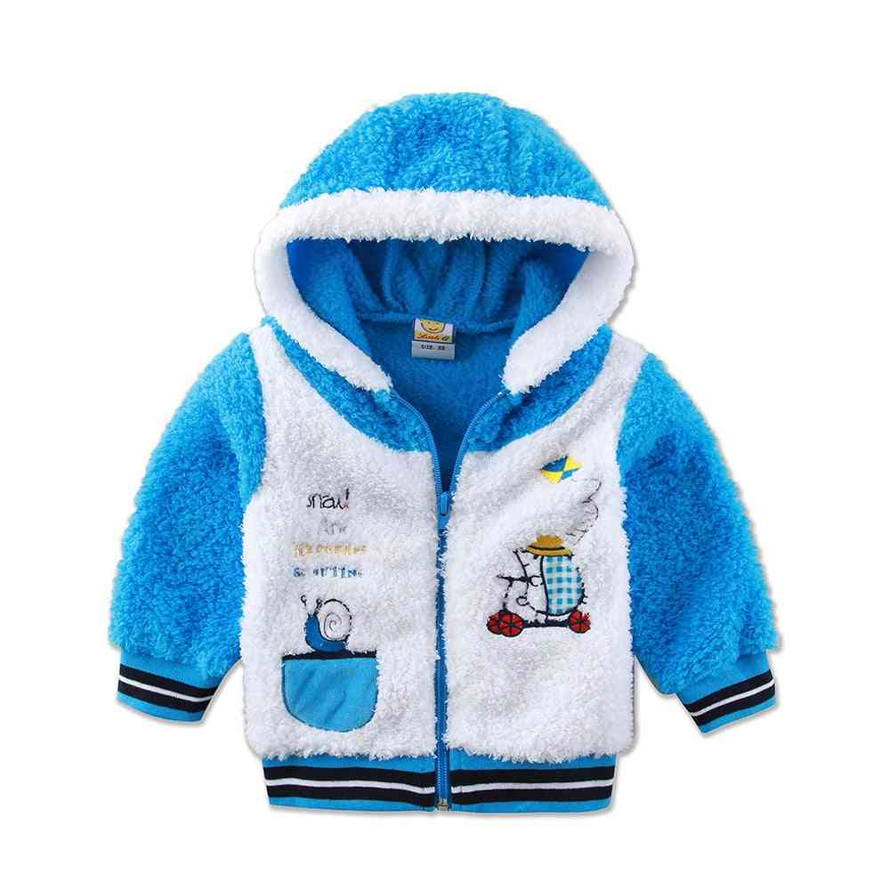 Children Long Sleeve Hoodie Coral Fleece Warm Autumn And Winter Clothes For Baby