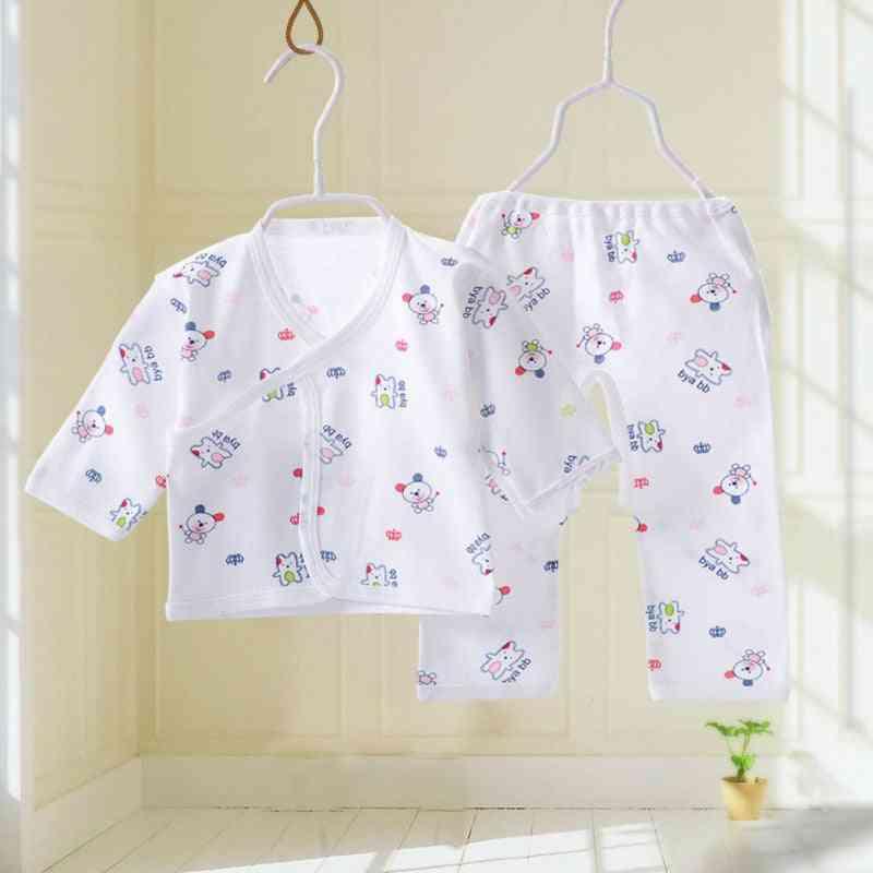 Cartoon Animal Pattern -cotton Nightwear Set  For Babies