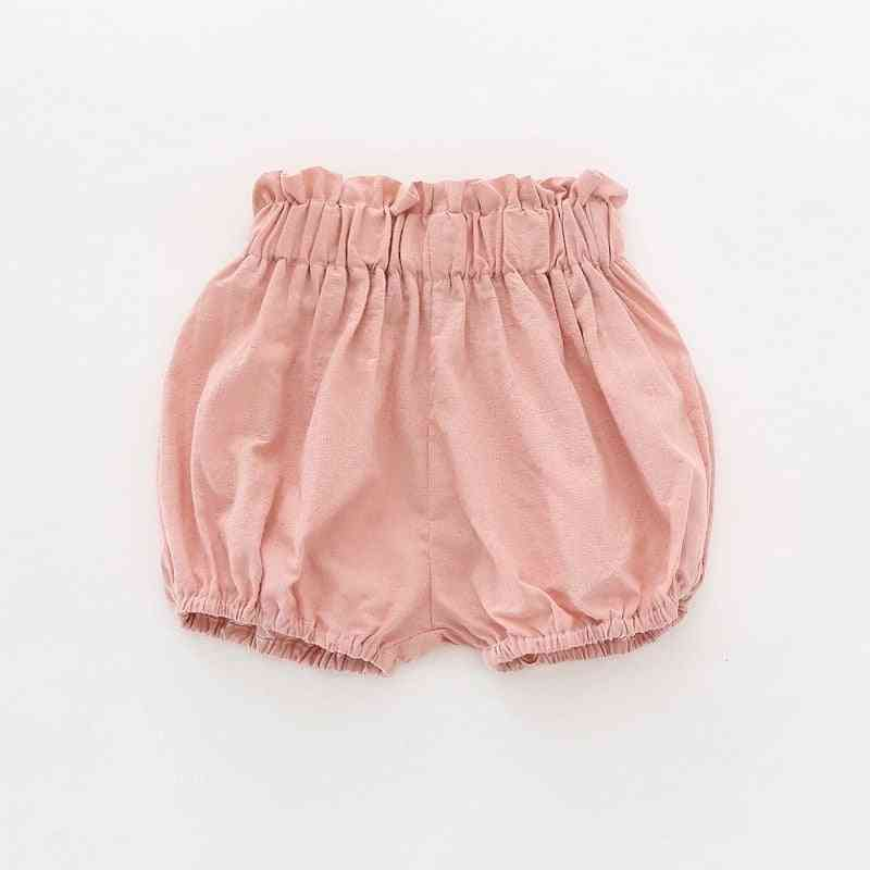 Solid Summer Bloomers- Baby Girl Shorts