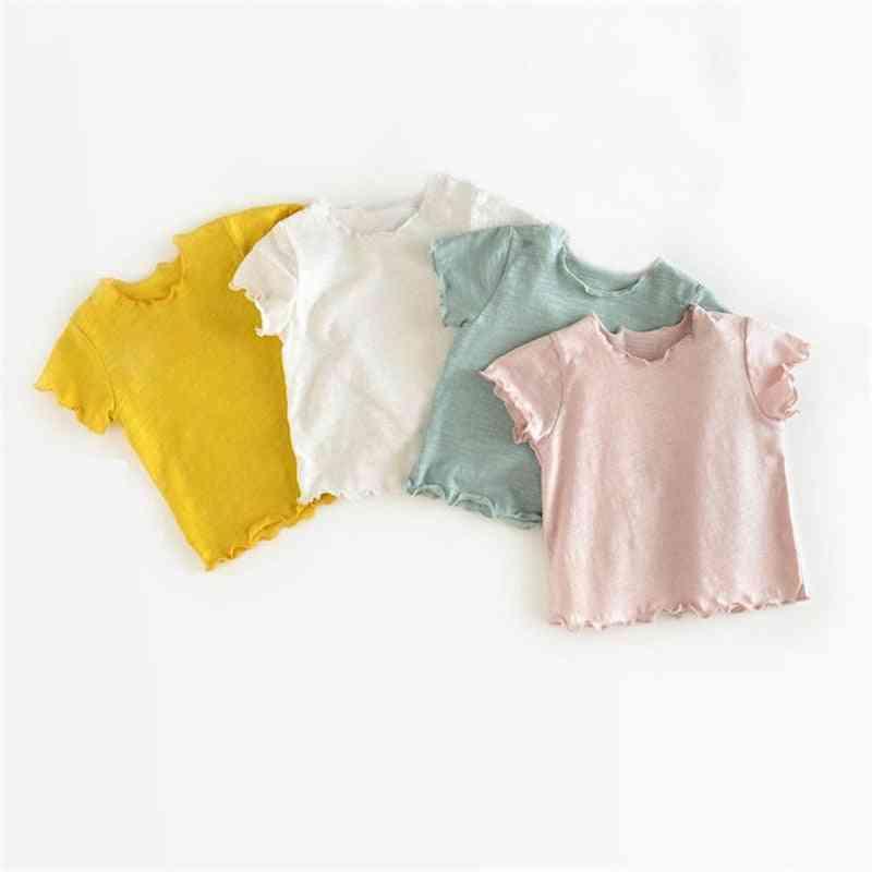 Short Sleeves, Korean Style-unisex Tops For Infants