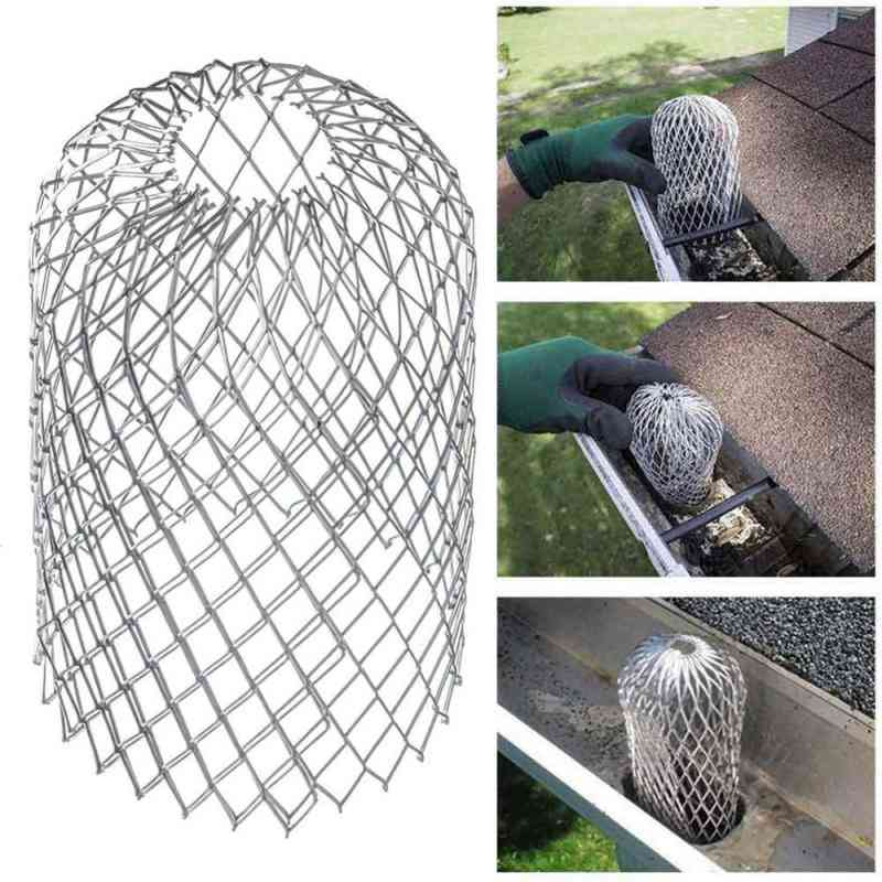 Mesh Metal Gutter- Downspout Leaf, Rain Filter For Outdoor Drainage