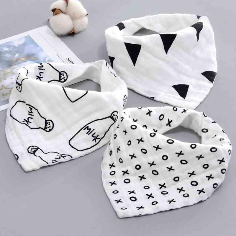 Baby Bibs- Boy/girl Bandana- Water Absorb Burp Cloth, Triangle Cotton Scarf
