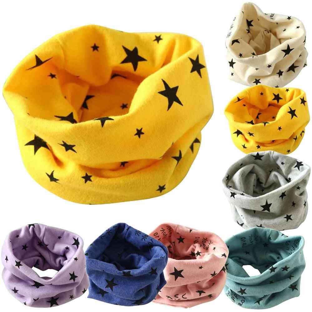 Autumn Winter Collar Baby Scarf Cotton O Ring Neck Scarves  Newborn Winter Warmer Pretty Soft Star Pattern