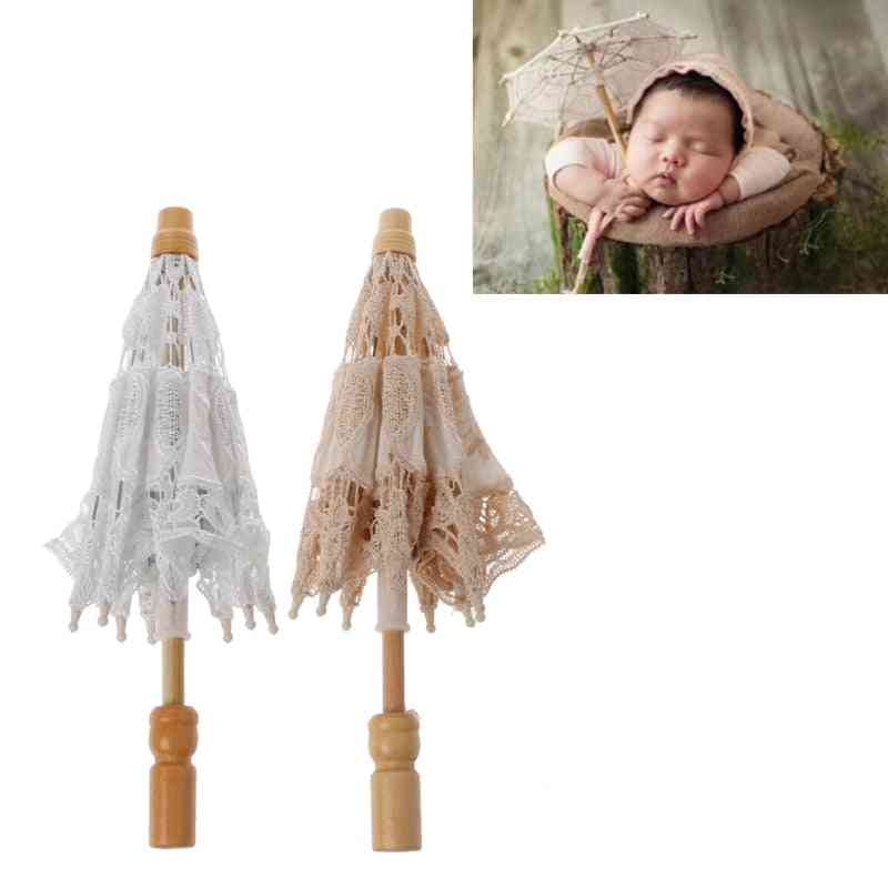 Newborn Baby Photography Props Lace Umbrella Infant Studio Shooting Shower