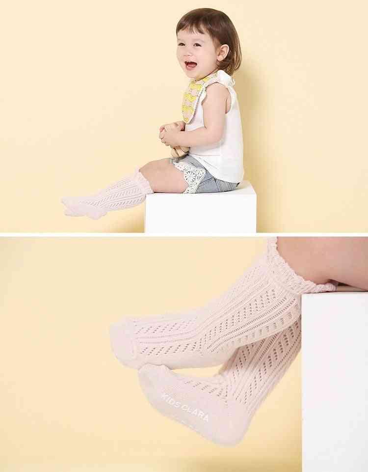 Breathable Mesh High Knee Socks For Newborn
