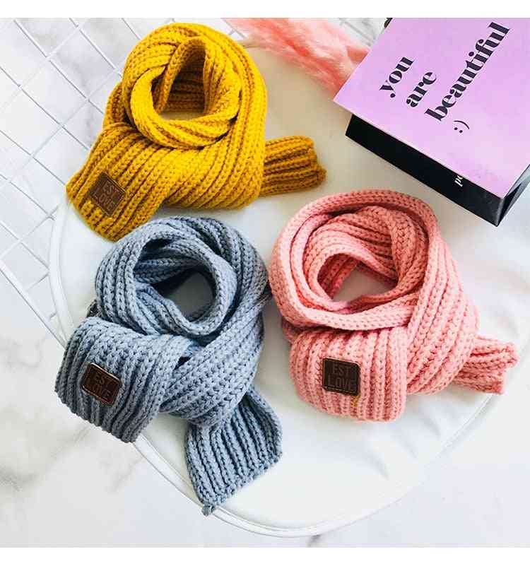 Cotton Winter Scarves - Wool Neck Warmer For Baby /