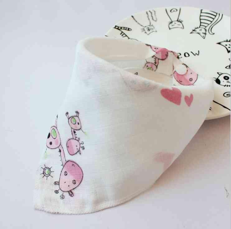 Animal Print Cotton Scarf Feeding - Collar Bandana Bib Burp