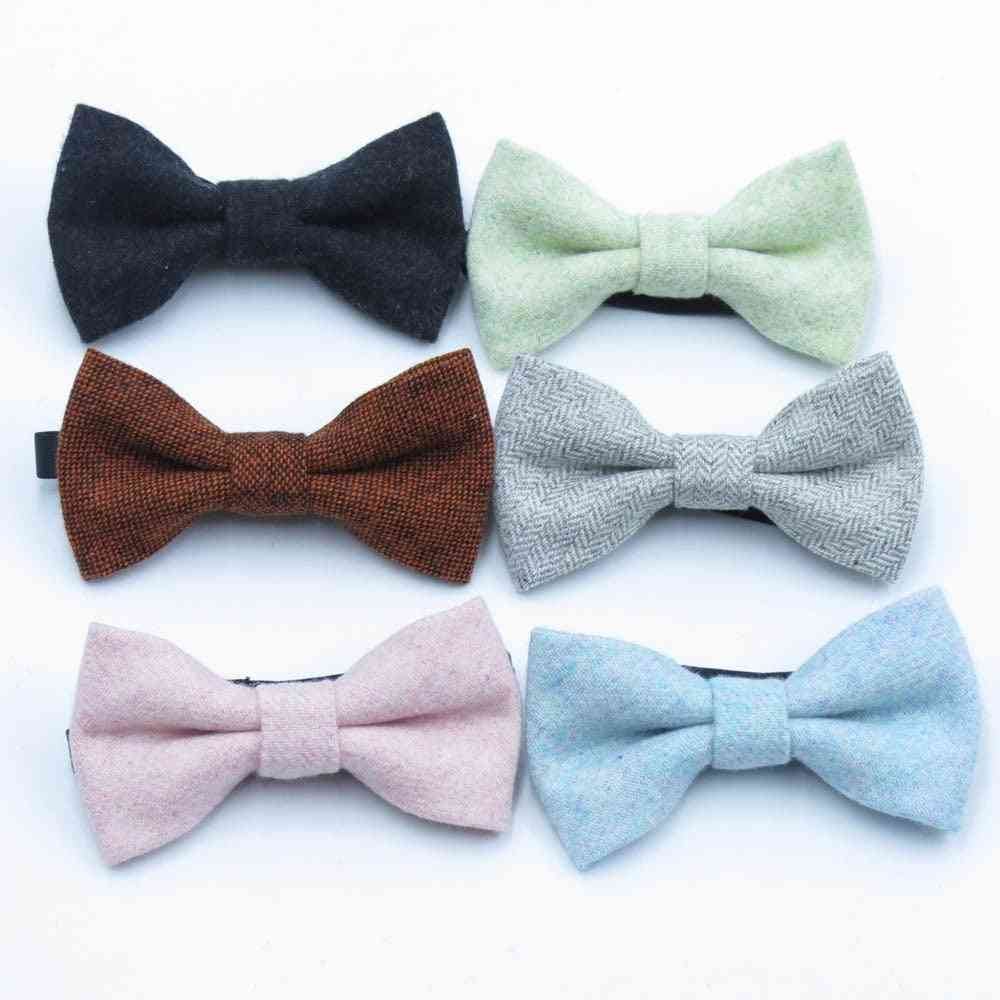 Fashion Wool Bow Tie For Baby