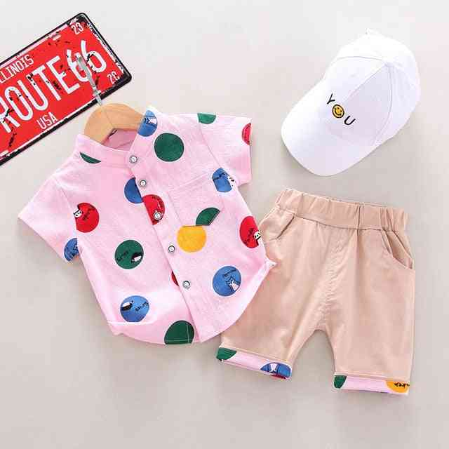 Summer Baby Boy Printed Shirt & Pants,s Sports Suit