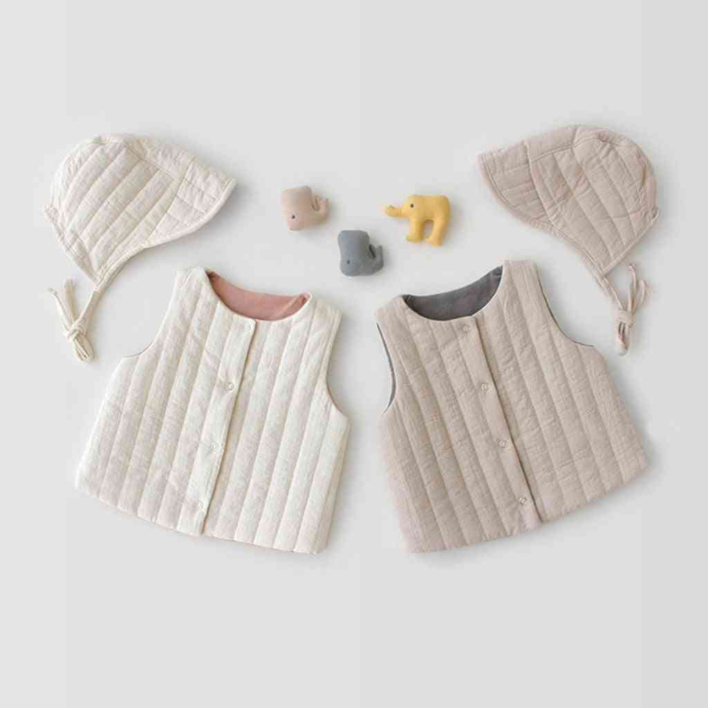 Two-sided Design Baby Vest- Outwear Jacket+hat
