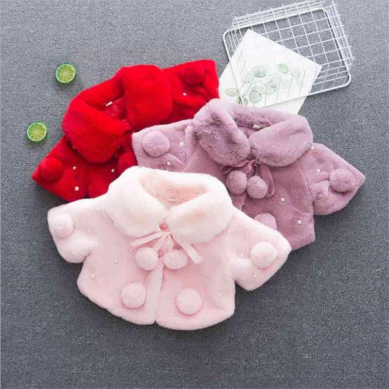 Children Winter Coat, Baby Girl Thickeness Fur Cape