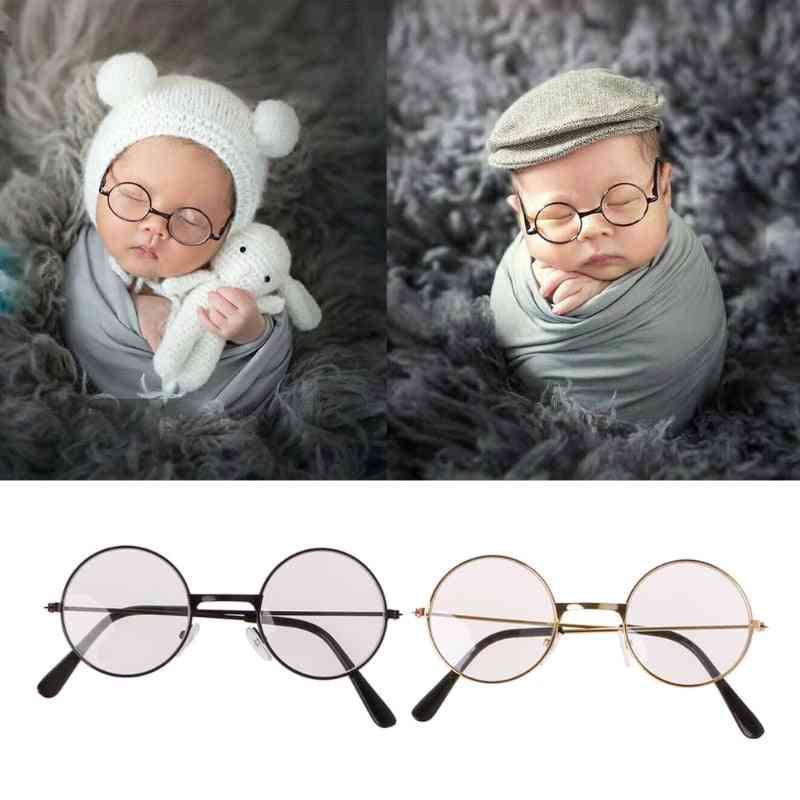Newborn Baby Girl Boy Flat Glasses Photography Props, Gentleman Studio Shoot