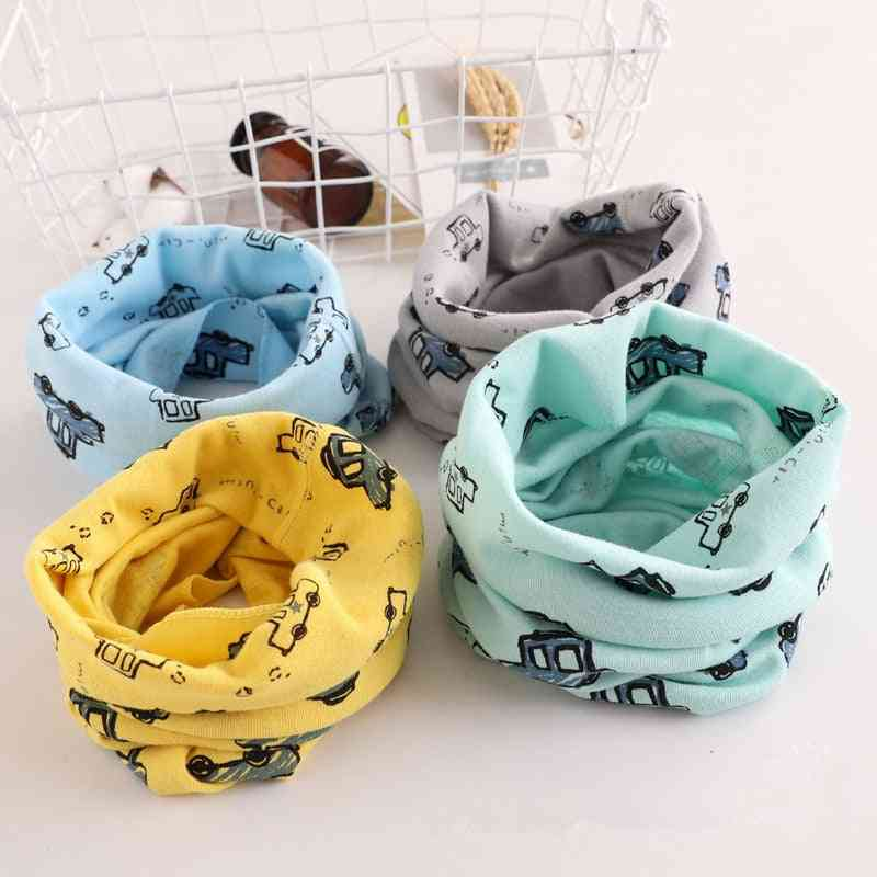 Baby Car Pattern Scarf For Autumn & Winter, Cute O Ring Collars