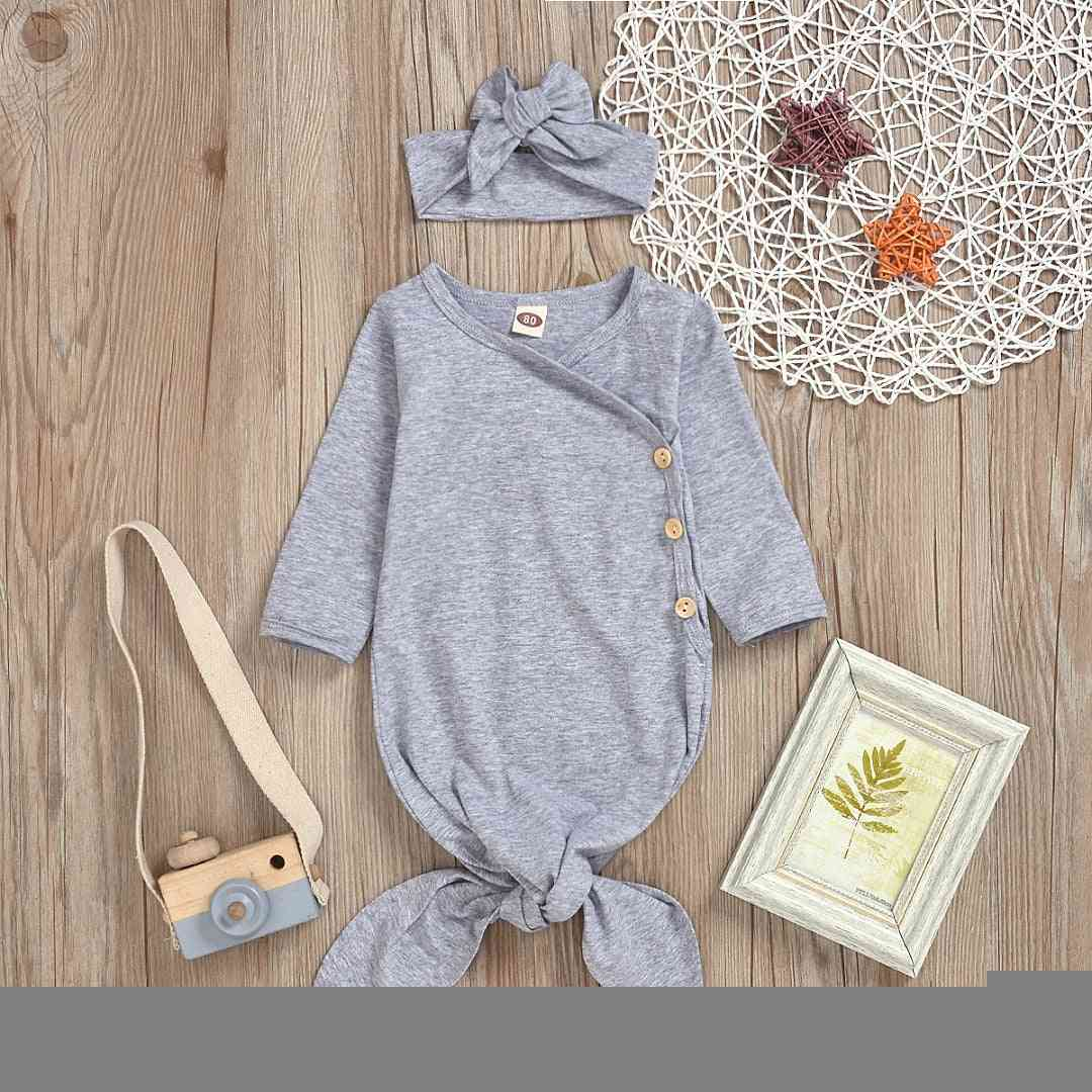 Casual Plain, Cotton Sleeping Outfit For Newborn Baby