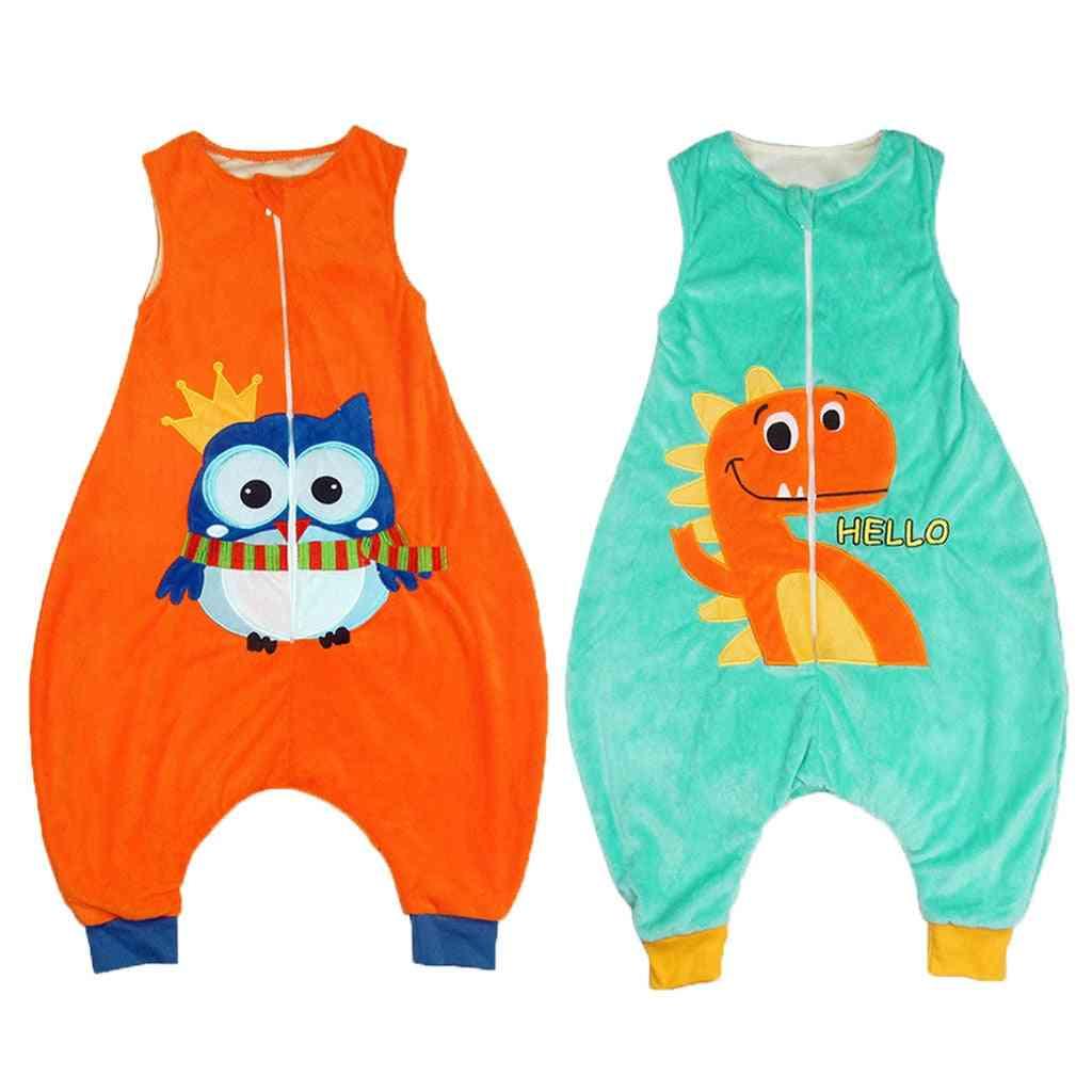 Kids Baby, Cartoon Jumpsuit, Wearable Blanket