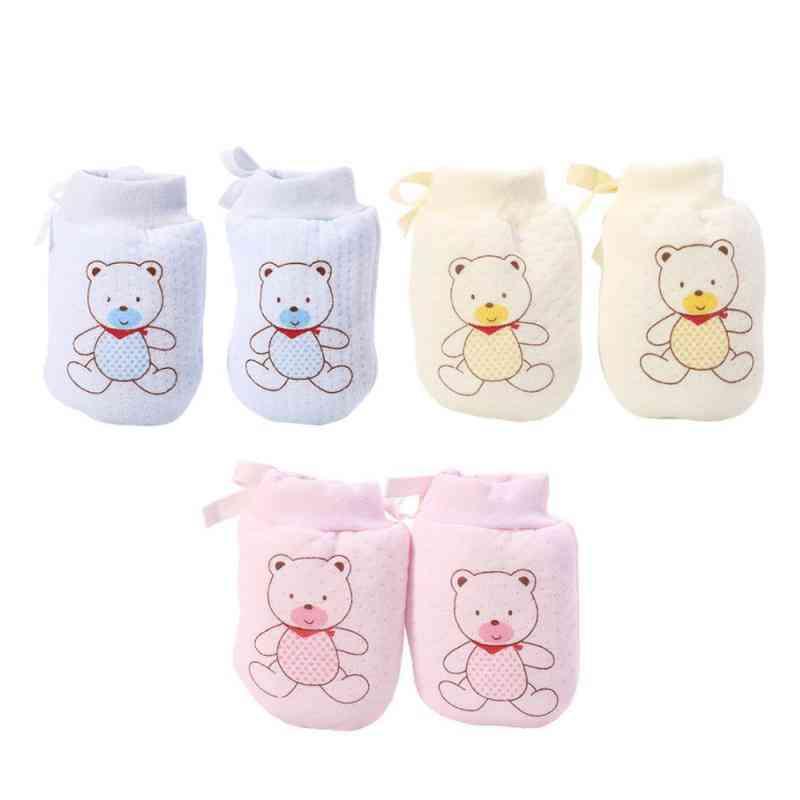 Autumn/winter, Cute Cartoon Printed-baby Gloves- Newborn Mittens