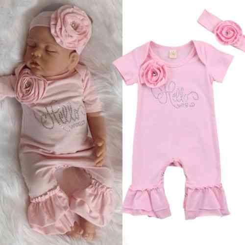 Kid Baby Girl Short Sleeve, Long Flare Pants