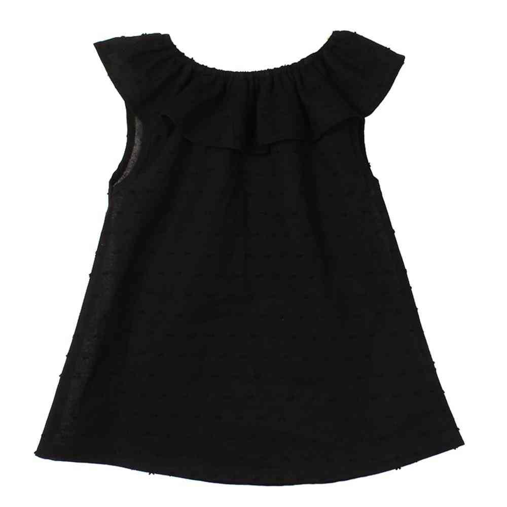 Baby Girl T-shirts, Lotus Leaf Collar O-neck, Top Blouse