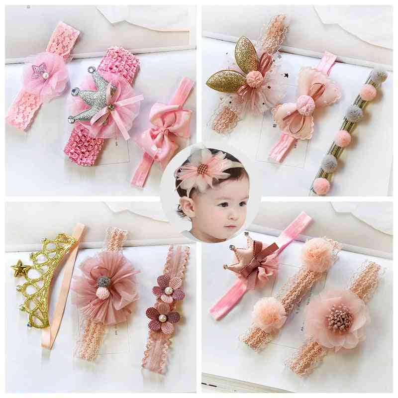 Floral Design, Elastic Headband For Baby