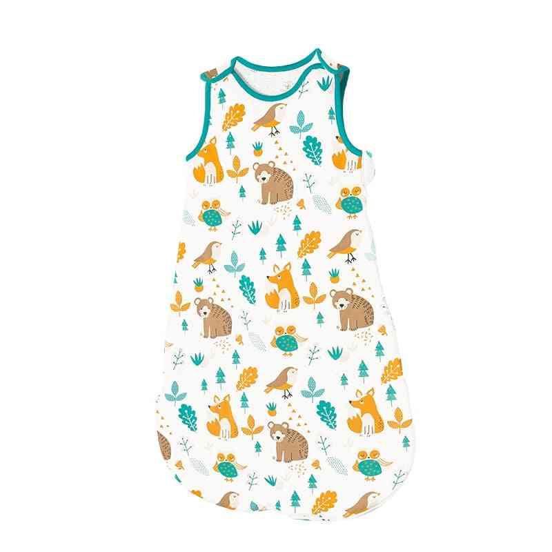 Sleeveless Baby Boys & Girls Sleeping Bags, Soft, Autumn And Winter Warm, Long Zipper Nightwear