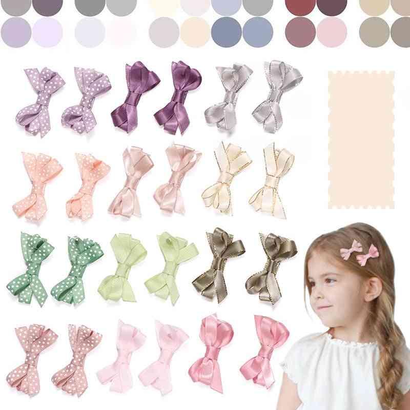 Baby Hair Clips, Hairpin Ribbon Bowknot
