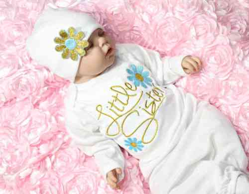 Newborn Baby Girl Clothes, Gown Robe