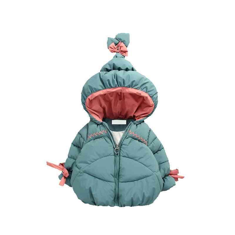Winter Warm Baby Girls, Cute Hat, Cotton-padded Jacket