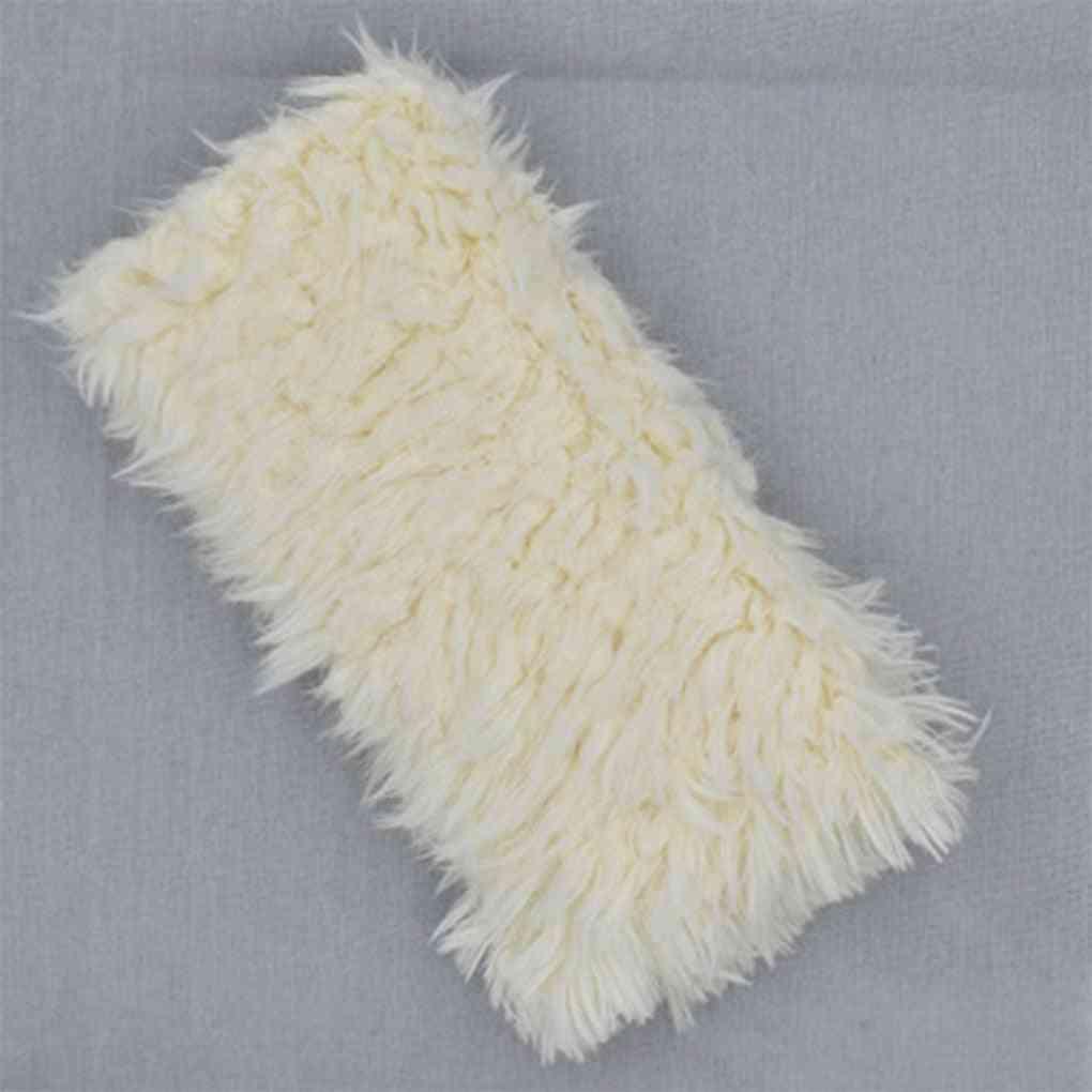 Fur Blankets-newborn Photography Prop, Basket Stuffer