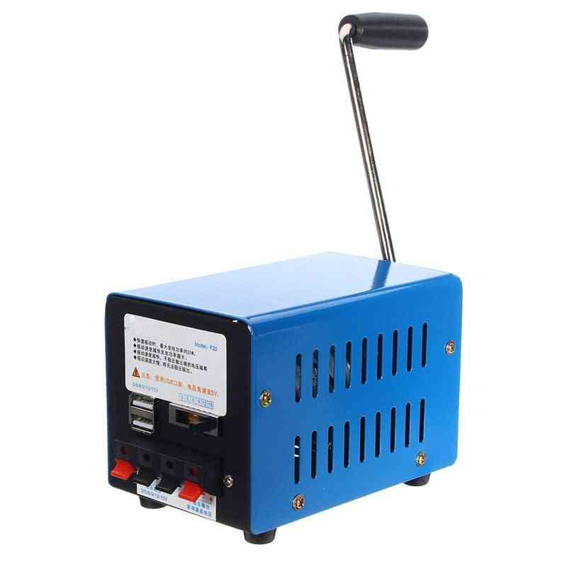 20w Portable , Emergency Hand Crank Usb Generator