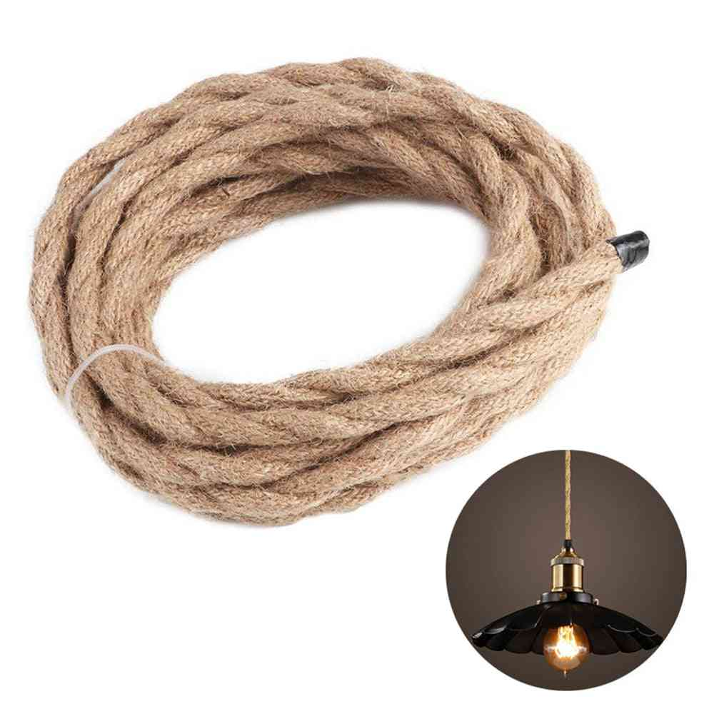 Vintage Hemp Rope Covered Pvc Insulation Cable