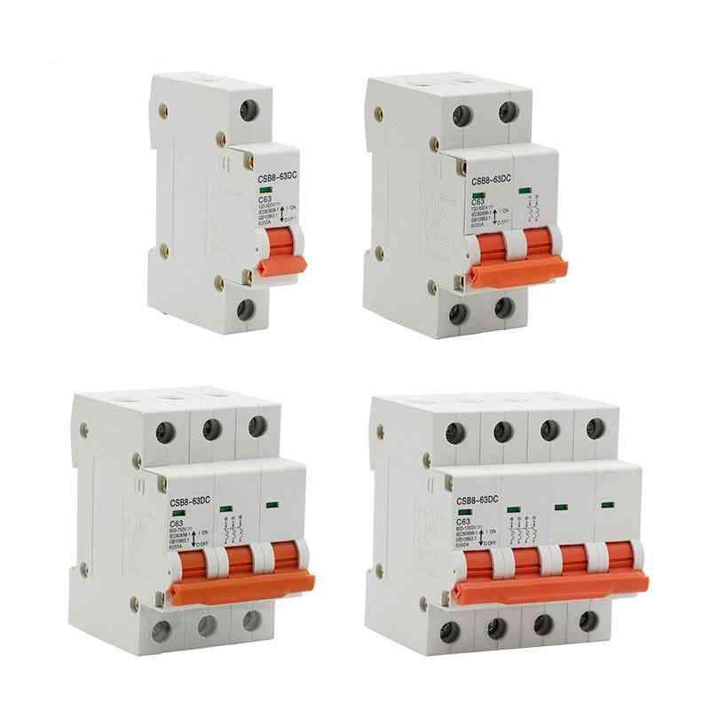 Dc 250v-1000v Mini Circuit Breaker/ Mcb Fuse For Solar Energy System
