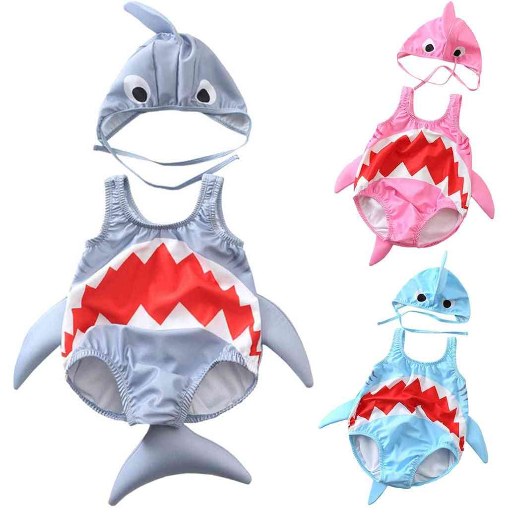 Baby Swimwear Toddler Cartoon Shark Bikini Bathing