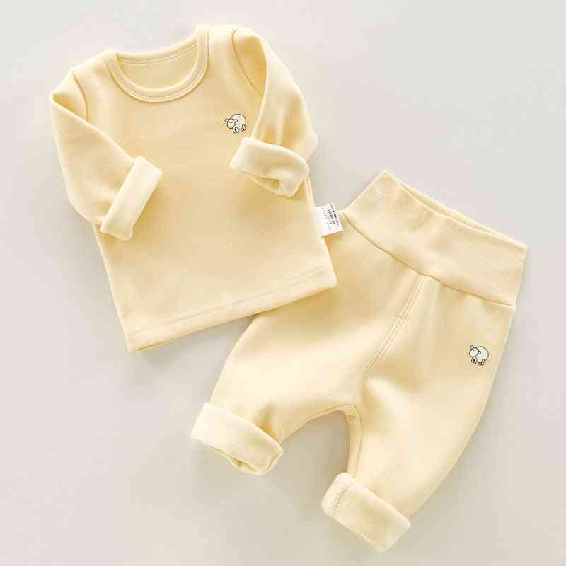 Solid Long Sleeve T-shirt Pants For Baby / Girl