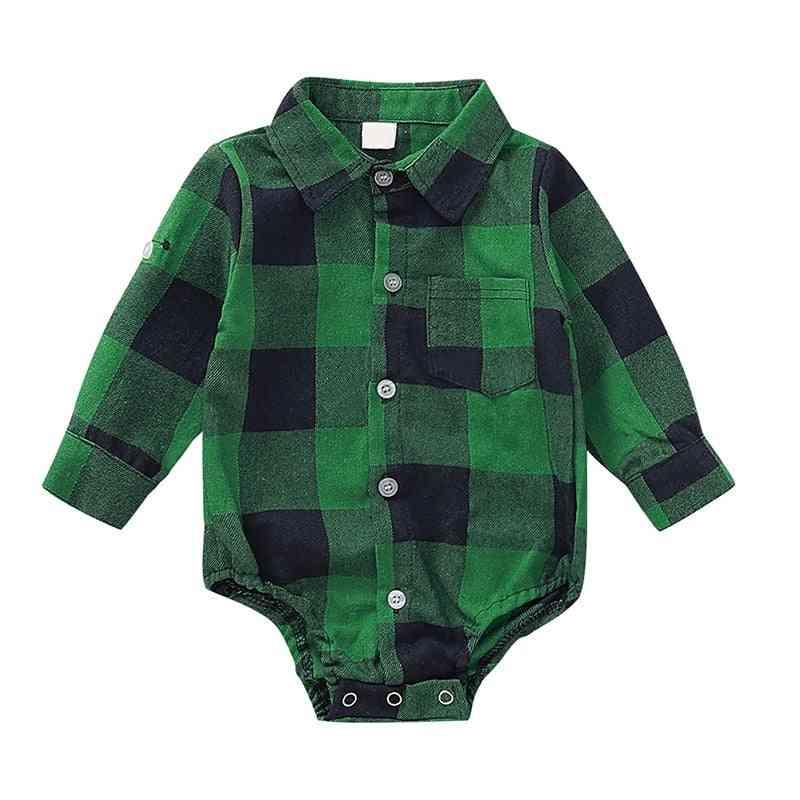 Full Sleeves, Plaid Print, Comfortable Shirt Design Romper