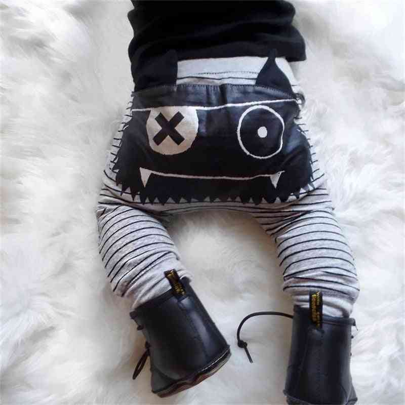 Monster Pattern, Baby Boy Clothes-stripe Bottoms Harem Pants