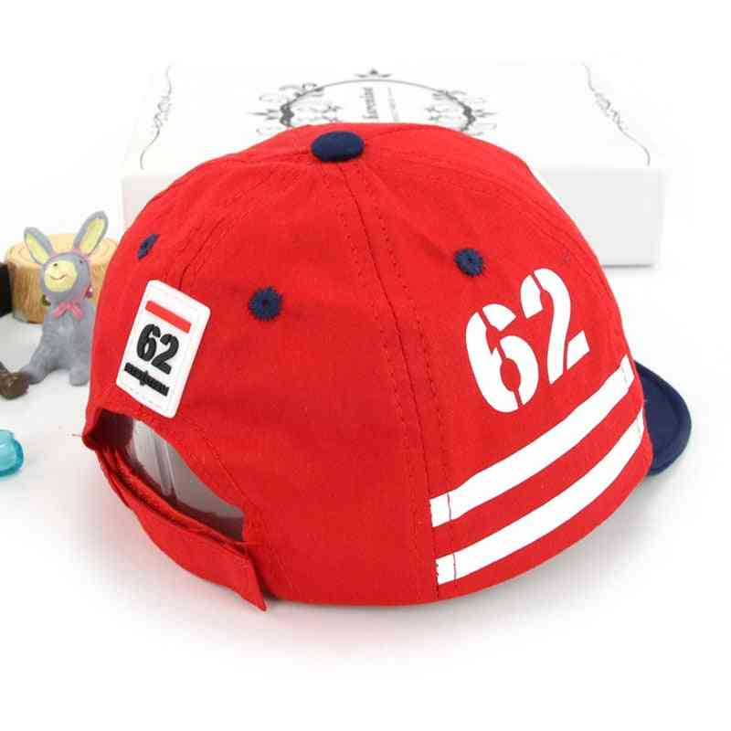 Print Number Baseball Cap For Boy / Girl, Adjustable Snapback Sun Hat Baby Muts