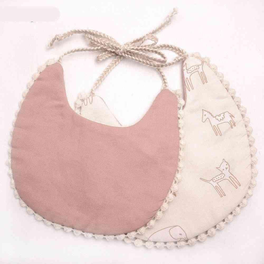 Tassel Pattern, Double-deck, 100% Cotton Linen Burp Cloths For Babies