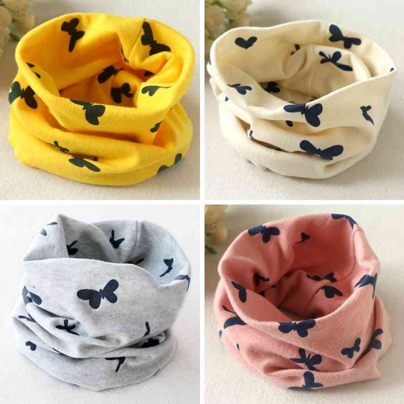 Baby Cotton Scarf, Autumn & Winter / Collar Neckerchief Butterfly O-ring Round Neck