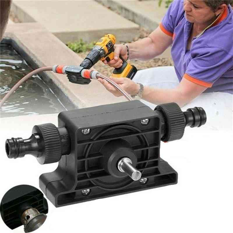 Portable Electric Drill Pump, With Hose Clamp And Connector