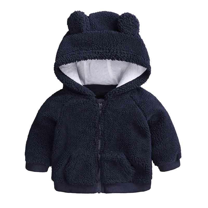 Newborn Baby Clothes Autumn Winter Warm Hooded Jacket & Coat Toddler Boy Bear Outerwear